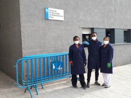 Servicio de limpieza de los Centros de Acogida de Emergencia de Madrid
